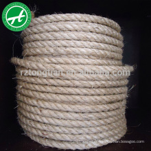 Corde de jute naturelle torsadée à 3 brins