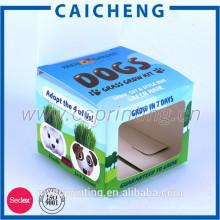 Logo imprimé personnalisé pliant emballage petite boîte de papier