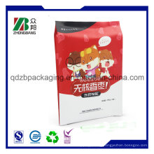 Plastic Back Seal Pouch Bag for Potato Chips Snacks Nuts Corn Puffs