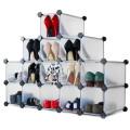 DIY Plastic Bookshelf Closet Wardrobe Cabinet Bathroom Shelf Shoe Rack