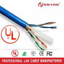 CAT6 UTP 24AWG / 23AWG CCA / Чистая медь CM Номинальный сетевой кабель UL