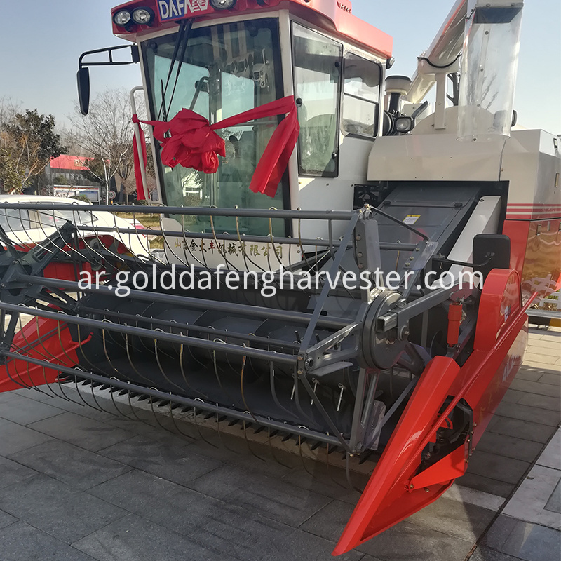 hydro static transmission self-propelled rice harvester