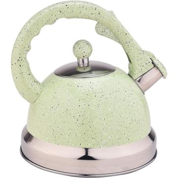 Tetera Whistling Green Mirror de acero inoxidable