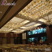 Fashion Flower Glass Pendant Lighting con el lobby del hotel
