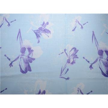 Imprimir Tela de algodón de impresión de flores de tela de algodón Ramie (DSC-4122)