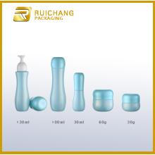Glass bottles and jars set