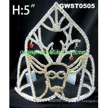 holiday day rhinestone tiara crown
