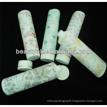 screw on cap round cosmetic packaging tube