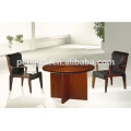 round walnut wooden office meeting table coffee cafe desk