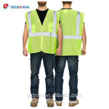 Salut gilet de sécurité d'événement de maille de Vis Vis / gilet de sécurité de haute visibilité réfléchissant jaune de la classe 2 pour la chaussée / construction