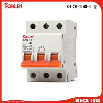 Miniature Circuit Breaker 4.5KA 63A 2P με NF