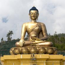 Fundição de bronze fundição metal ofício alto estátua de Buda para Shakyamuni
