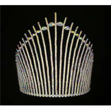 Hecho a mano AB Rhinestone Tiara Pageants Crown Crown