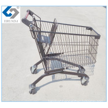 Black Shopping Trolley for Supermarket