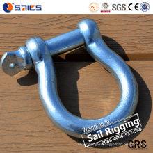 Electro/Hot Galvanizing European Standard Bow Shackle