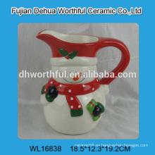 2016 taza de cerámica de ventas directas de fábrica en forma de muñeco de nieve