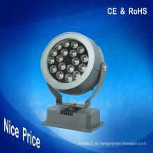 18W rgb Punktbeleuchtung führte Flutlichter dmx 24V CE RoHS für im Freiendekoration