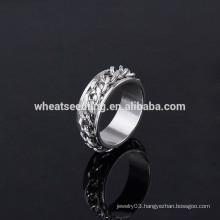 2014 new design men's simple stainless steel men's ring