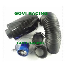 3in Real Carbon Luftfilter mit Kunststoff Flexible Rohr 76mm Gummi Reuducer Universal