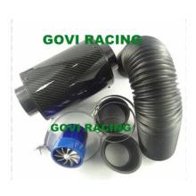 3in Filtro de ar de carbono real com tubo flexível de plástico 76mm Rubber Reuducer Universal