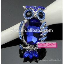 Moda venda quente pedras azuis pedro de liga de coruja animal