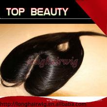 Instock natürliche Farbe seidige gerade menschliches Haar Mitte Teil Schnürung