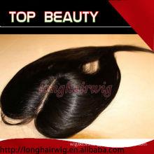 Organique couleur naturelle soyeuse droite centre des cheveux humains partie dentelle fermeture
