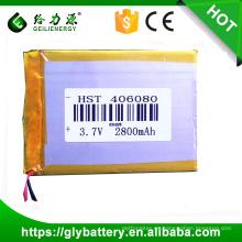 Precio de fábrica de la batería del polímero de litio del modelo 406080 3.7v 2800mah