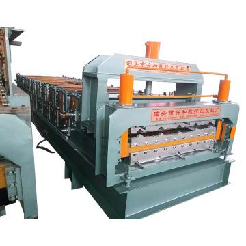 Fabricação de máquina formadora de rolos de telha metálica de camada dupla (XH820-860)