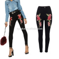 Fashion women embroidery design in stock sexy tight jeans Fashion women embrodiery design in stock sexy tight jeans stock jeans