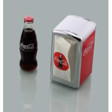 Dispensador de servilletas personalizable en el restaurante