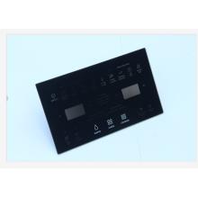 plaque en verre trempé noir pour porte de four à micro-ondes