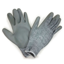 Cut Resistant Coated with PU Glove, Hand Protection, Working Gloves, Safety Glove