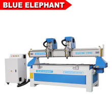 Double Separate Heads 1940 CNC Machine with High Speed / Multi Spindle 3D Wood CNC Router with Rotary