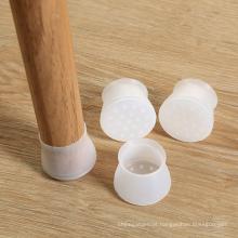 protetores de piso de cobertura de perna de cadeira de silicone flexível personalizada