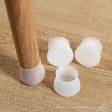 custom flexible silicone chair leg cover floor protectors