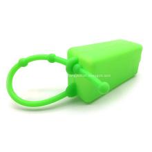 Porta-chaves de silicone desinfetante para as mãos porta-frascos estojo