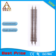finned hot air heating element for room warming