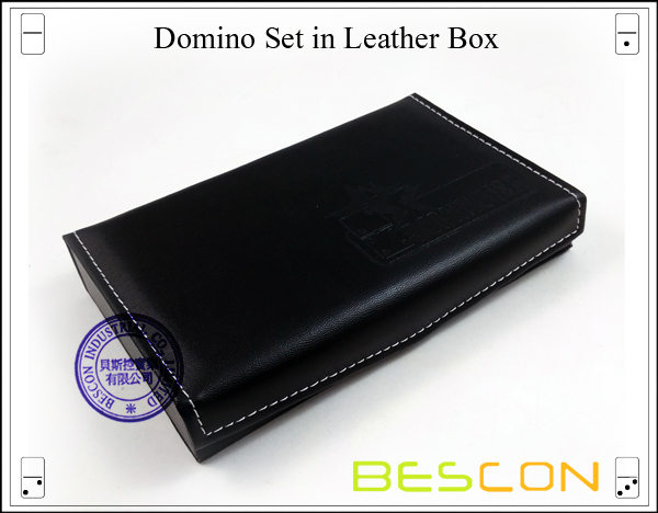 Domino Set in Leather Box-3