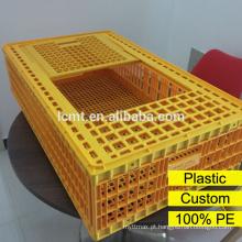 Gaiola plástica do transporte da galinha do preço de fábrica