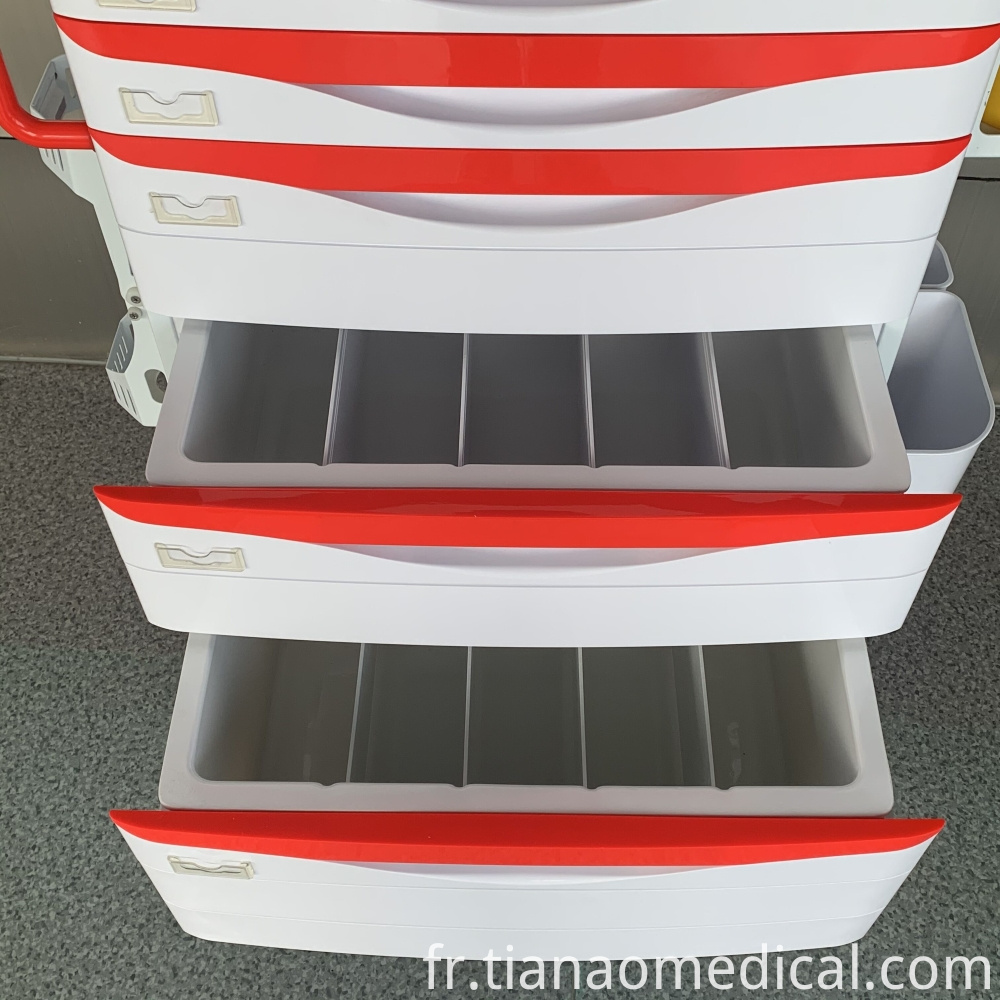 Medical Emergency Trolley Cart