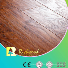 Household Embossed Walnut U-Grooved Waxed Edged Laminate Flooring
