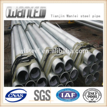 Threading galvanized steel pipe