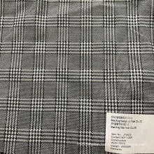 Black and White Stripes Checks 90T/10SP Plaid Fabric