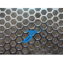 Hexagonal Hole Punching, Hexagonal Holes Perforated Metal Mesh