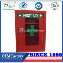 caja roja de primeros auxilios montada en la pared de alta calidad