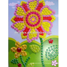 Kinder diy Mosaik Handwerk für Blume