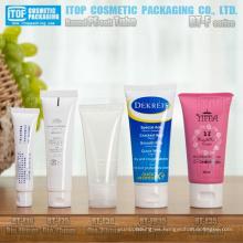 redonda de diámetro 19mm a 35mm el más popular suave tubo con tapa flip-top alta calidad flexible tubo de pe de cosméticos