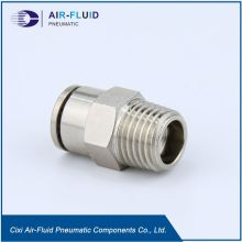 Air-Fluid Male Adapter FittingTube Messing vernickelt.