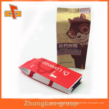 Guangzhou OEM laminated material heat seal custom printed kraft side gusset coffee pouch
